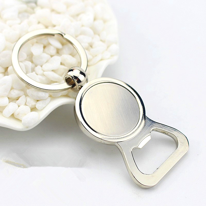 FREE SHIPPING BY DHL 50pcs lot Bottle Opener Keychains Zinc Alloy Opener Keyrings