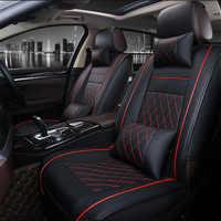 Fundas universales de asiento de cuero PU para Nissan Qashqai Note Murano March Teana Tiida Almera x-trai auto accesorios autoadhesivo