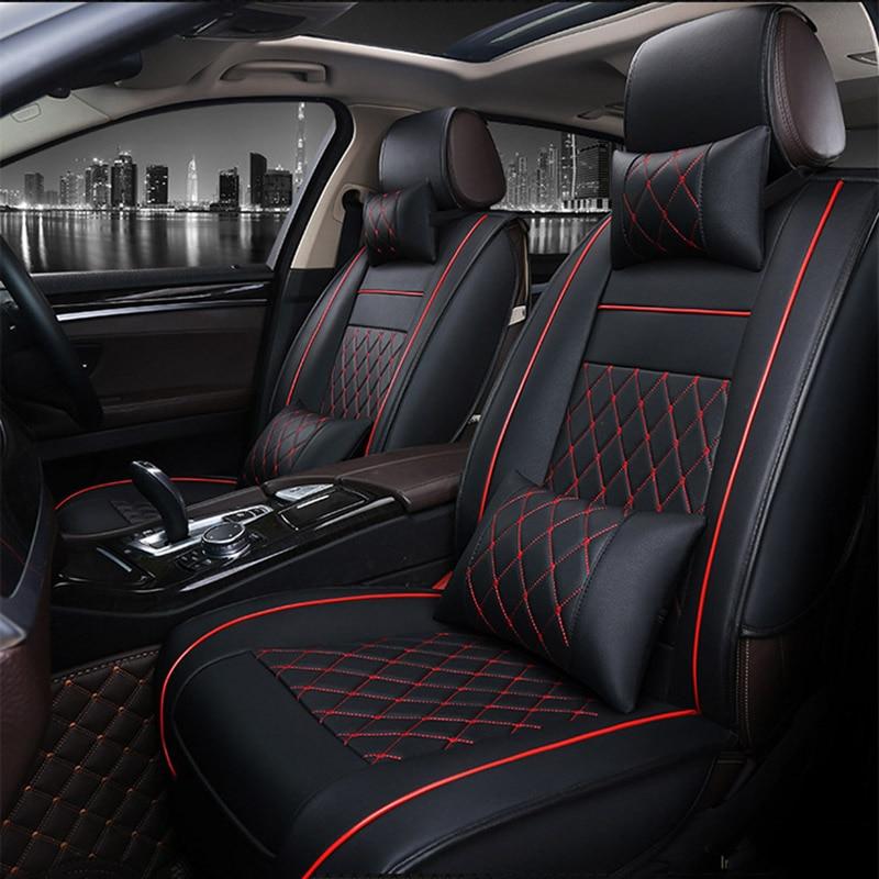 Universal Couro PU tampas de assento do carro Para Nissan Qashqai Nota Murano Almera Teana Tiida Março X-trai auto acessórios etiqueta do carro