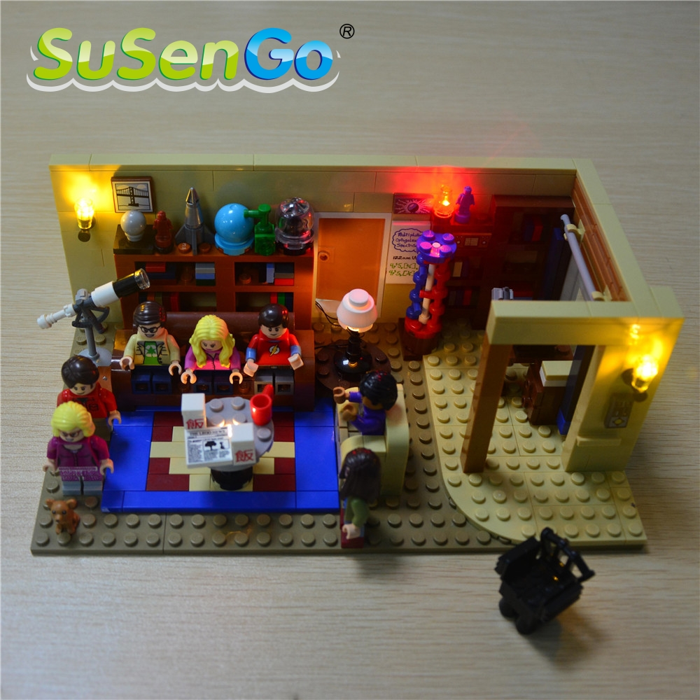 SuSenGo LED Light Kit For Big Bang Theory Compatible With Lepin 16024 Building Blocks Bricks Light Toys Set 21302 lightaling led light set compatible with brand camping van 10220 building model creator decorate kit blocks toys