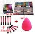 DHL 24 sets 120 Colores Completos de Sombra de Ojos Cosméticos Mineral Make Up Maquillaje Eye Shadow Palette Kit Profesional + 5 cepillos + puff