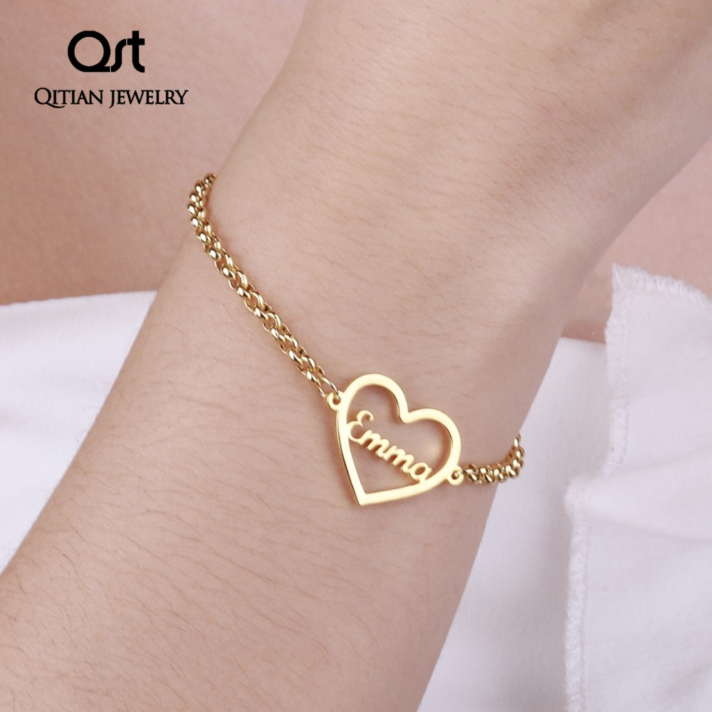 Personalized Name Bracelet Gold Color