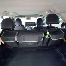 Автомобильный багажник Органайзер заднее сиденье сумка для хранения высокой емкости мульти-использование Ткань Оксфорд автомобильное сиденье назад органайзеры интерьерные аксессуары