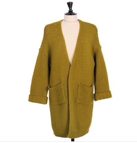 1eac2a02f2e9 2015 para mujer rebecas largas del suéter de gran tamaño de corea de punto  jerseys abrigos mujeres suéteres Cardigan otoño moda otoño invierno en  Cardigans ...