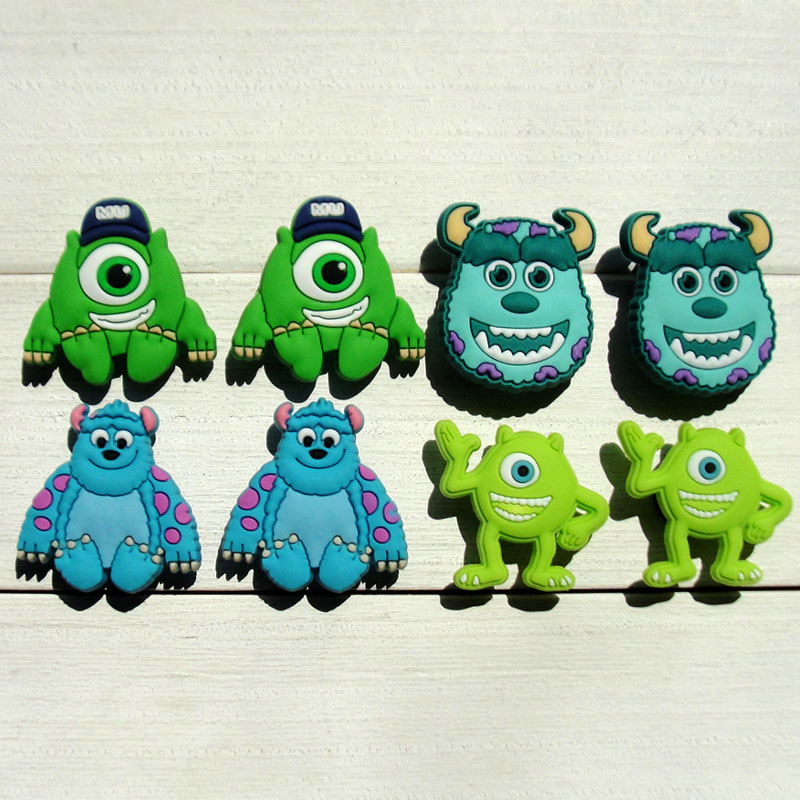 1pc Monster Hot Cartoon PVC Shoe Charms Shoe Accessories Shoe Decoration Shoe Buckles Accessories Fit Wristband Croc JIBZ Kids