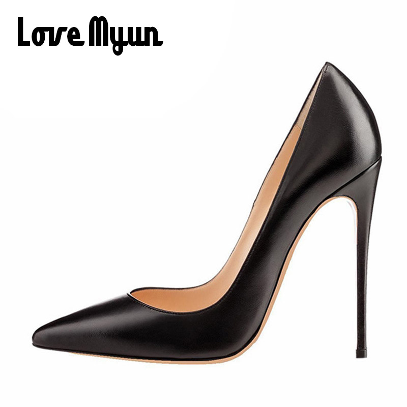 Brand New Sexy Red Black Women Nude OL Patent Formal Pumps Ladies High HEEL 12CM Gladiator Heels Shoes Big Size 45.46 OO 03