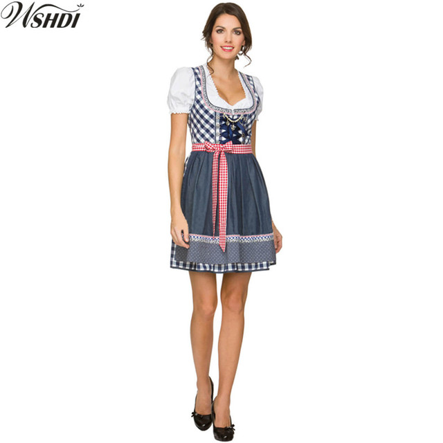 24fd4bf61c2 US $30.34 22% OFF|New ! Women Oktoberfest Beer Wench Costume Beer Girl  Costume Adult German Bavarian Heidi Fancy Dress -in Sexy Costumes from  Novelty ...