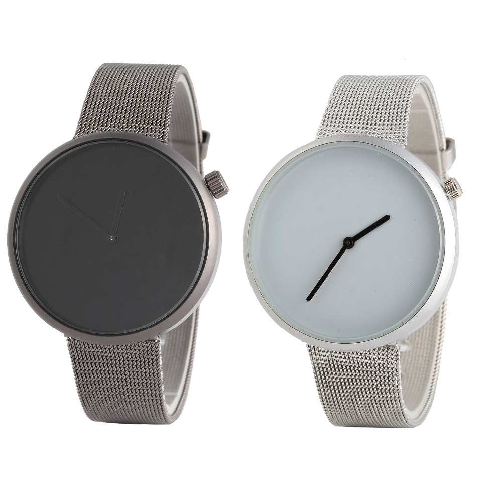 new couple watches elegant luxury fashion sports watch women men solid color mesh Watchband clock Relogio Feminino in Women 39 s Watches from Watches