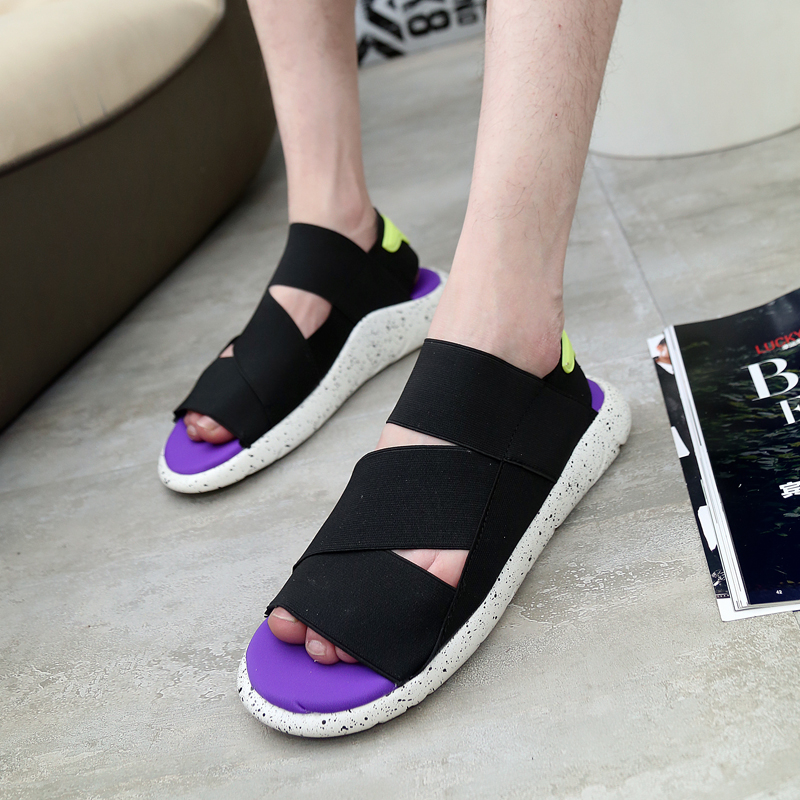 2016 New Fashion Y3 Sandals KAOHE SANDALS Indoor Men Alippers Open toed Leather Sandals Men Sandals