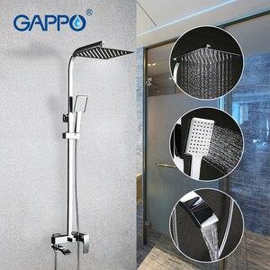 Image 2 - GAPPO Bath Shower System Wall Mounted Rainfall Head Shower Faucet Single Handle Bathroom Shower Set Waterfall Massage Jets Spout