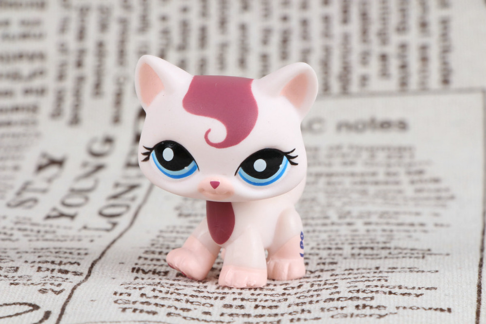 pet shop Genuine Original Animal Collection LPS Toy #1679 Blue Eye Pink Swirl Kitty Cat Figure genuine pet shop 577 brown white