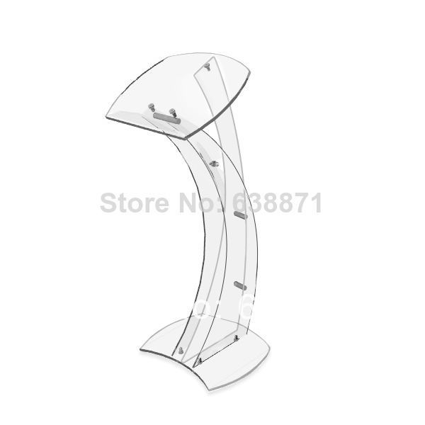 Free Shiping Clear Acrylic Plexiglass Church Podium Pulpit Lectern