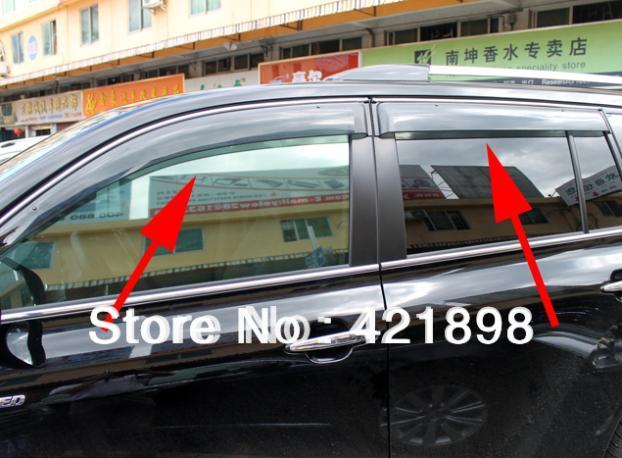 Para a Toyota HIGHLANDER 2008 2009 2010 2011 2012 2013 a Janela Do Vento Defletor Visor Chuva/Sun Guard Ventilação