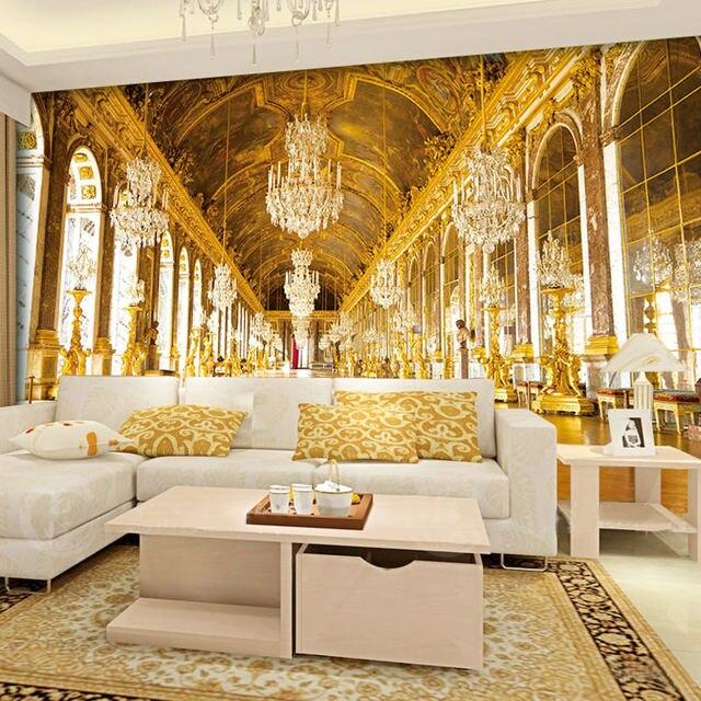 Online Shop Papel De Parede 3D Paisagem European Style Golden Church ...