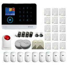 Touch keypad ANDROID IOS APP Wireless Wifi GSM SMS RFID Home Alarm Security System With Wireless Flash Siren