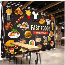 Custom wallpaper mural HD hand-painted Western restaurant background wall painting - high-grade wall covering free shipping custom wallpaper mural retro japanese traditional culture restaurant sushi shop background wall painting deco