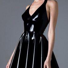 Летнее платье для девочек платье из латекса Для женщин платье из латекса