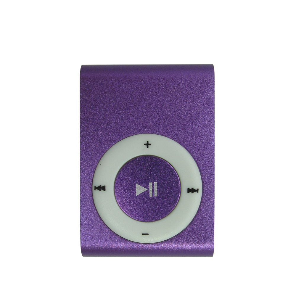 100% Original Metal Mini MP3 Player With Micro SD Slot & Clip 8 Colors Black Silver Blue Green Red Rose Red Purple Gold