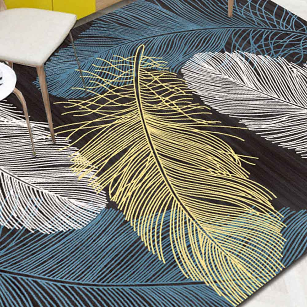 Nordique salon géométrique tapis Super flanelle Point en plastique anti-dérapant zone tapis hiver chaud épais décor chambre tapis tapis - 4