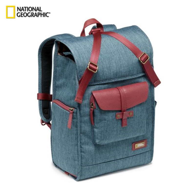 Free Shipping National Geographic NG AU5350 Leather Camera Bag Backpacks Large Capacity Laptop Carry Bag For