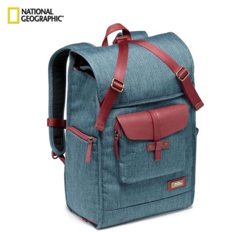 Livraison gratuite National géographique NG AU5350 sac en cuir caméra sacs à dos grande capacité ordinateur portable sac de transport pour caméra vidéo numérique
