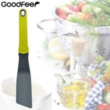 Нейлоновая широкая шлицевая Тернер антипригарная блинница инструменты для флиппера прочный шпатель для жарки пищи кухонная посуда кухонные принадлежности Goodfeer