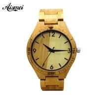 2018 Aismei Full Bamboo Wood Watches Fashion Bamboo Clock Wooden Wristwatches Men Luxury Watch Relogio Masculino