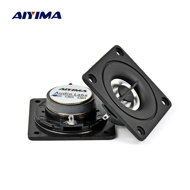 AIYIMA 2 unids 2 pulgadas Mini altavoces portátiles de Audio 4Ohm 5 W altavoz de altavoz magnético externo para cine en casa