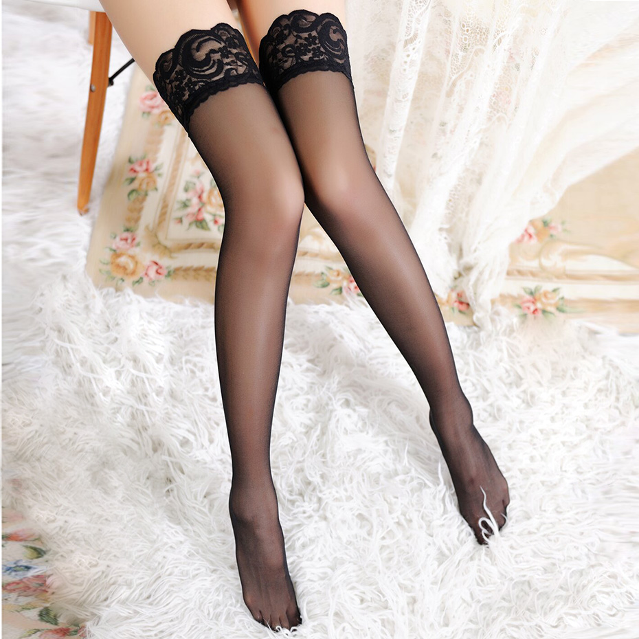 1Pair Sexy Stocking Fashion Ladies Women Lace Tighs Top Stay Up Thigh High Stockings Pantyhose Sex Products 6 Colors
