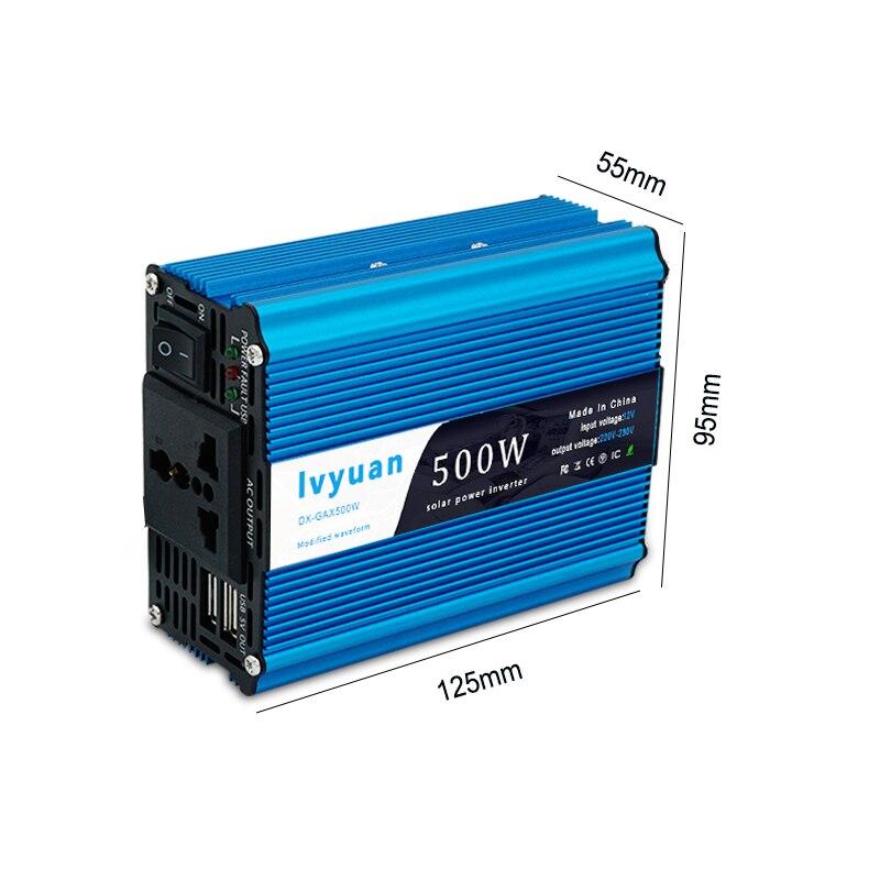 1500 Вт автомобильный преобразователь мощности постоянного тока 12 В в переменный ток 220 В модифицированная Синусоидальная волна с USB 5 В выход автомобильный Стайлинг и автомобильное зарядное устройство