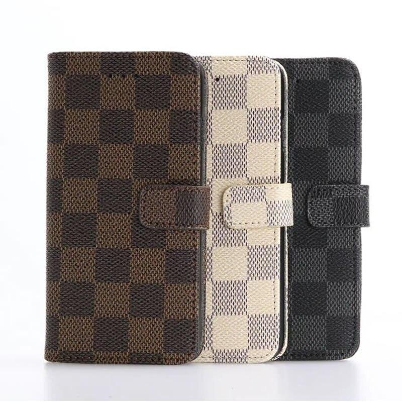 For Samsung Galaxy S7 Elegant font b Tartan b font Design Wallet Card Holder Stand Leather