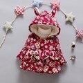 BibiCola Детей хлопка мягкой одежды Цветочные Печатные Новорожденных Девочек Зимние Пальто Теплая куртка дети Верхняя Одежда Толщиной Толстовка snowsuit
