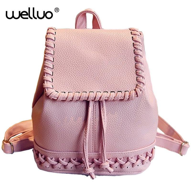 2016 New Korean Backpacks Fashion PU Leather Shoulder Bag Crocodile Pattern Small Backpack Embossed School Bag