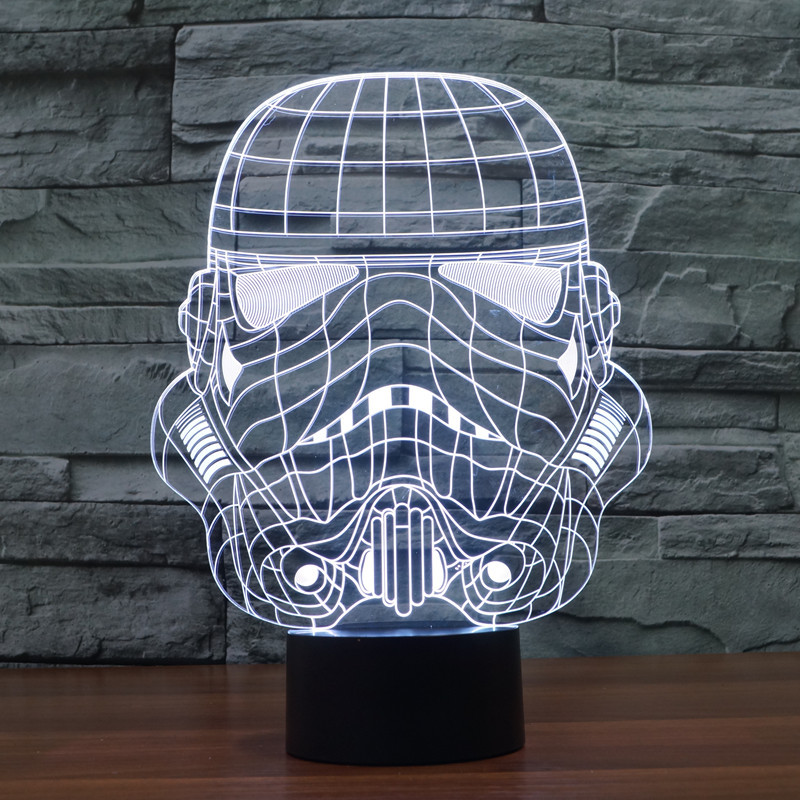 Star Wars Star Wars Star Wars soldier 2 colorful LED light 3D vision stereo light touch  ...