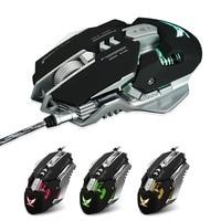 Jogo do Rato 3200 DPI USB Wired Competitive 7 Botões Programáveis Macro Definição Jogo De Programação para dota Mecânica pubg