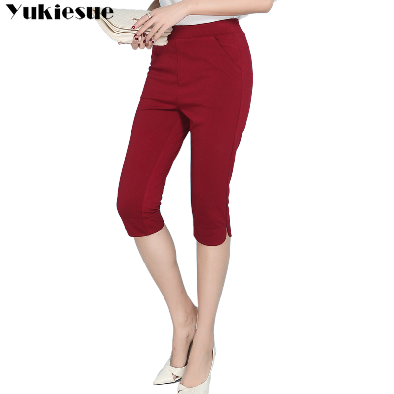 summer 2019 stretch skinny women's   pants     capris   with high waist pencil   pants   for women trousers woman   pants   female Plus size 6XL