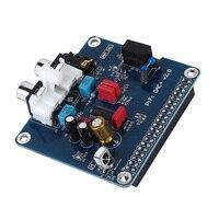 Pifi dac +ハイファイdacオーディオサウンドカードモジュールi2sインタフェースラズベリーpi3 2 modelb +デジタルオーディオカードピンボードv2.0ボードsc08