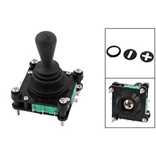 JFBL 2X AC 240V 5A 4NO 4NC Momentary 2.5mm Fixing Thread Joystick Switch jfbl 2x capacimetro digitale tester capacita misuratore 5 cifre