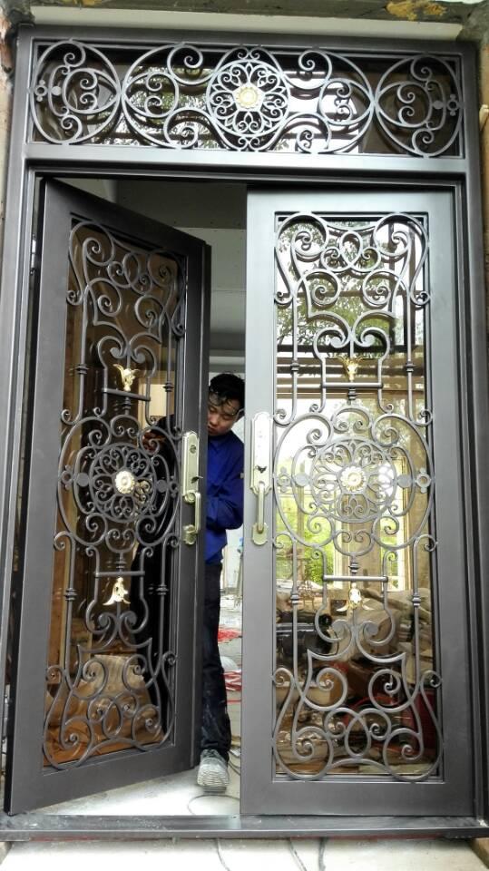 Custom 1600mm x 2600mmwrought iron doors front doors wrought iron entry door