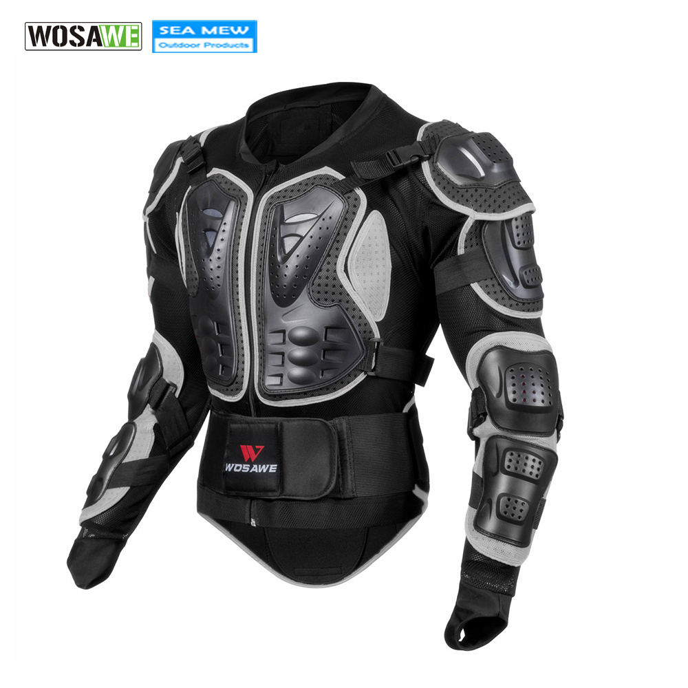 WOSAWE Breathable Motorcycle Jacket Racing Armor Protector Motocross Body Protection Elastic Cycling Jacket Protective Gear herobiker armor removable neck protection guards riding skating motorcycle racing protective gear full body armor protectors