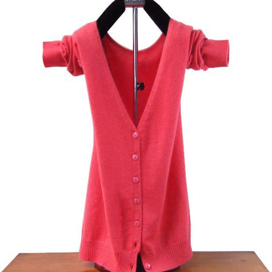 9e0da5c37ff Φ ΦЛидер продаж кашемировый кардиган Для женщин свитер Зима и осень ...