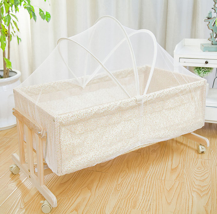 Portable Baby Bed Crib Cradle Rocking Bed with mosquito net for 0-8 months baby cute baby crib 4pcs portable comfortable babies pad with sealed mosquito net mattress pillow mesh bag newborn sleep travel bed