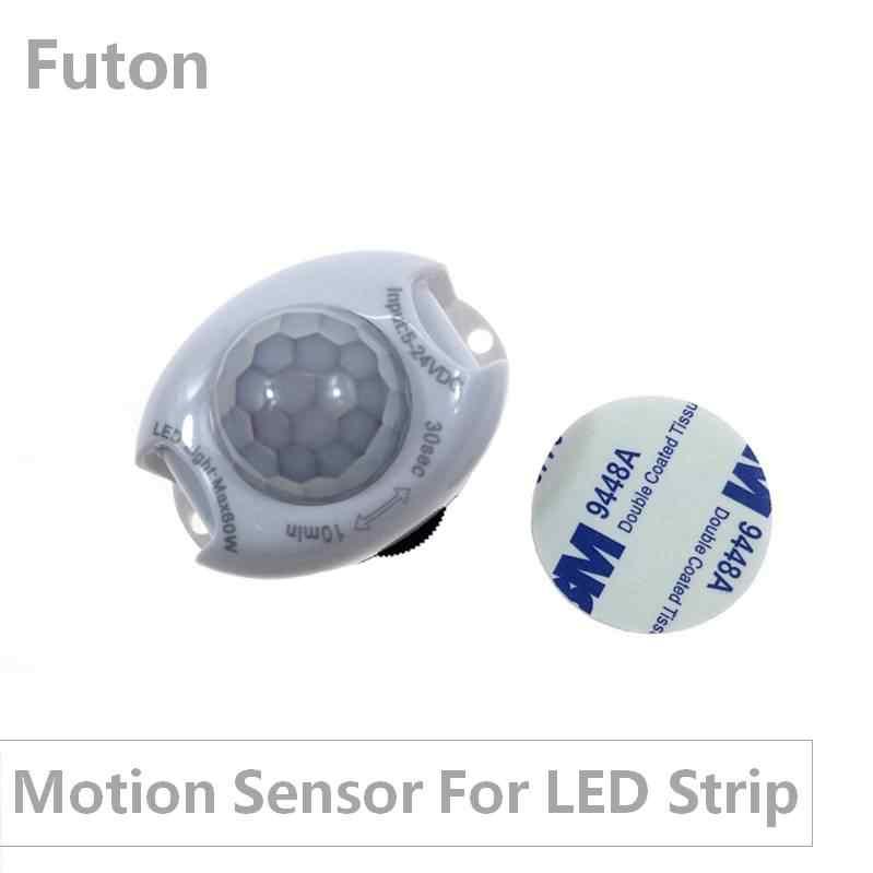 DC5 ~ 24 В ИК-контроллер датчика движения для светодиодной ленты SMD5050/2835 тела обнаружения инфракрасного излучения переключатель для ночного освещения