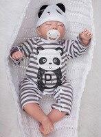 20 ручной работы возрождается сна Baby Doll новорожденных реалистичные малыша мягкий силиконовый игрушка Рождественские подарки