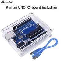 For Arduino Miroad Uno R3 Board ATmega328P With USB Cable Uno R3 Case Enclosure New Transparent