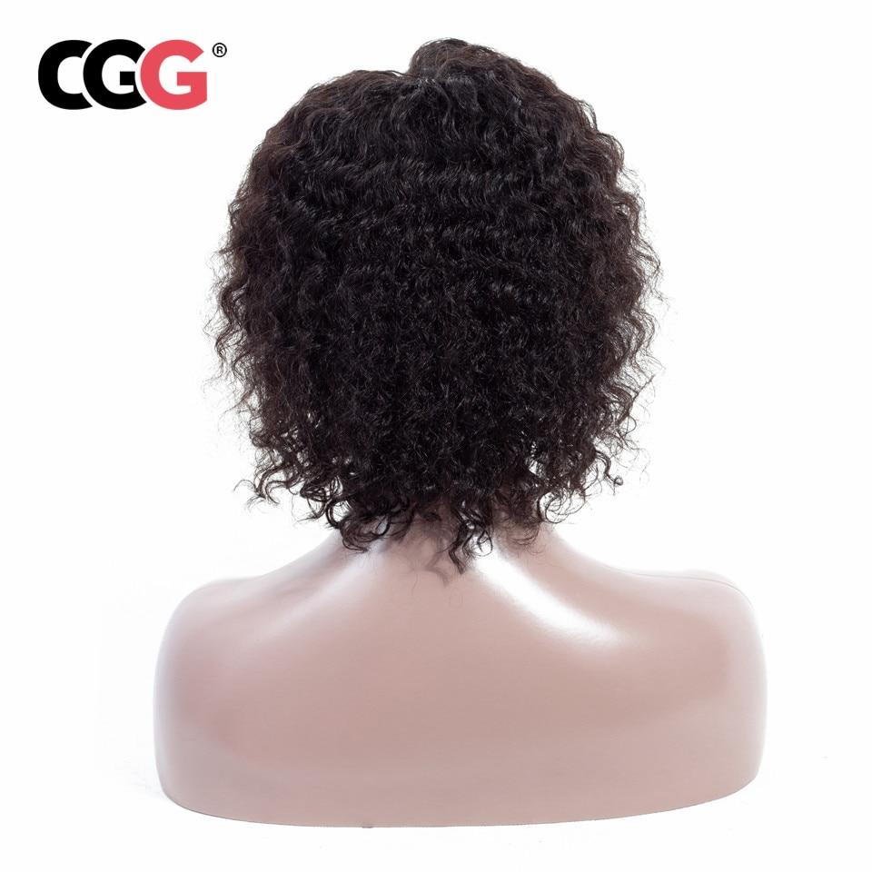 Wig-Hair Short Deep-Wave 100%Human-Hair-Wigs Brazilian Non-Remy-Hair Women CGG