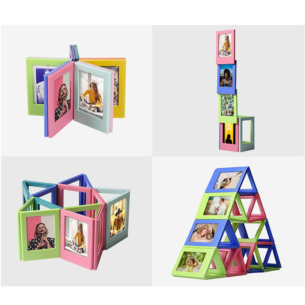 Image 4 - Photo Frame Magnetic Mini 3 inch DIY  Picture Combination Assembly Table Decoration Refrigerator Stickers for Fuji Instax Films-in Camera/Video Bags from Consumer Electronics