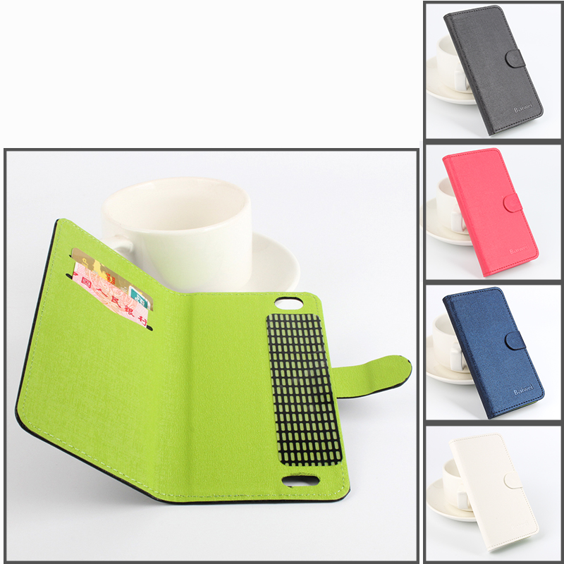 luxury Left Right Flip Hit Color Leather case With Stand Protect Holster For Cubot X16 Smartphone 4 color