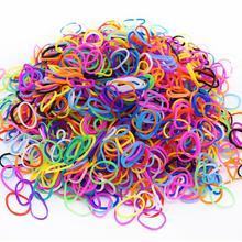 300 шт, 16 цветов, ткацкие резинки для детей, подарок для девочки, резинки для плетения, игрушка, обучающая завязывать шнурки, орбиты, рукоделие, креативная игрушка-браслет
