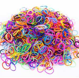 300pcs 16 Color Loom Bands for Children Girl Gift Elastic Bands for Weaving Lacing Toy